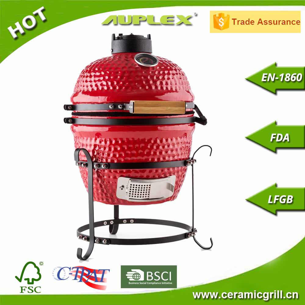 "Home & Garden Barbecue Charcoal Grill 13"" BBQ Grill Smoker Ceramic Pellet Igniters"