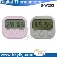 China supplier Digitales LCD Thermometer Weather station with alarm clock (S-W203)