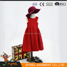 PGCC3844 Red Party Dress Fashion Design Small Girls Dress Birthday Dress For Girl Of 7 Years Old