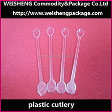 Disposable Stirring Mixing Spoon Set/ Salad Mixing Spoon/Plastic Long Handle Spoon Plastic spoon stirring