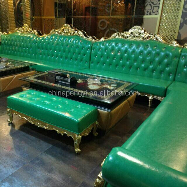 green leather ktv night club furniture 12 seater sofa set