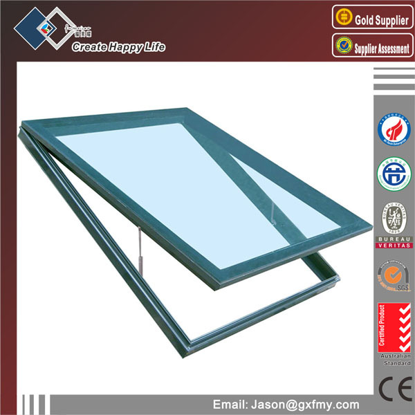 Europe style skyview roof window aluminum skylight window