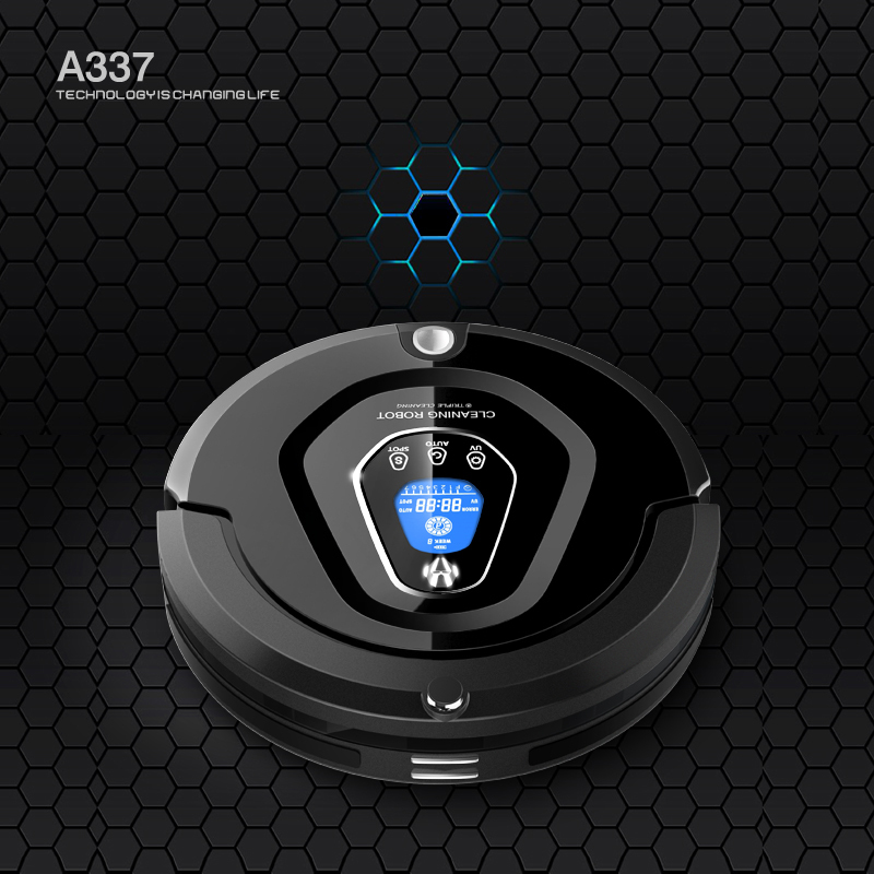 High Class Multifunctional Robot Vacuum Cleaner A337(Black)