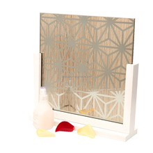 Factory Supply Titanium Beveled Mirror Strips Glass Mosaic Tile