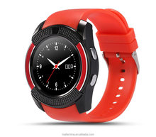 Hot sale round touch screen V8 smart watch for android smart phone