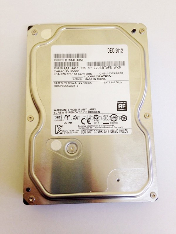 "China original Internal Hard Drive DT01ACA050 SATA 3.5"" 500GB 7200rpm for Desktop 100% tested working"