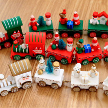 Hot Selling Kids Toys Wooden Small Train Christmas Promotional Gift Decoration