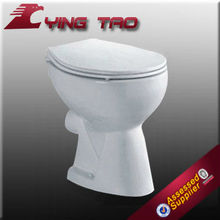 Fashionable ceramic washdown two piece disabled pink toilet for housing