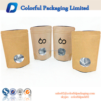 Custom different logo printed paper bags food grade packaging virgin kraft paper