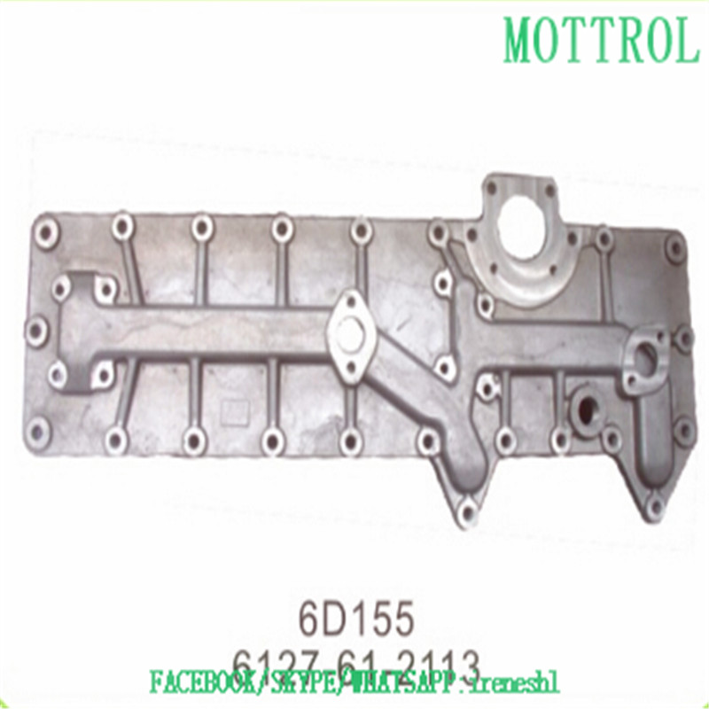 6127-61-2113 OIL COOLER COVER 6D155