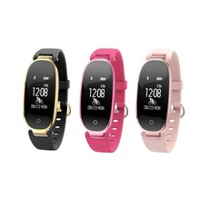 2017 waterproof fitness tracker band s3 with OLED touch screen app