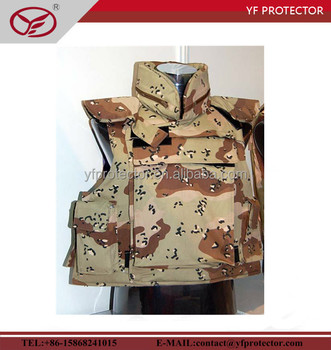 camoflage soft tactical bulletproof vest with aramid material