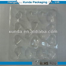 Hot selling custom Chocolate and candy blister insert tray/ Food Grade blister packing/Thermoformed