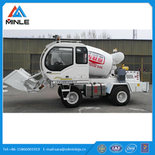Self Loading mobile concrete mixer truck/truck concrete mixer with loader 2.6cbm