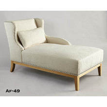 Wood frame indoor furniture antique french chaise lounge