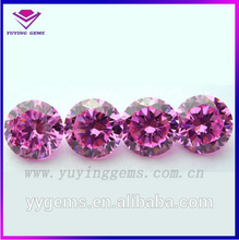 Fake Rose Gem Ring 9mm Brilliant Cut CZ Round China Jewelry Set