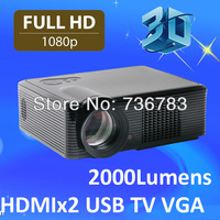 New products 2014 cheap HDMI tv tuner Multimedia 3D LED video 1080p digital projector beamer