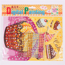 Promotional Gifts, DIY Cartoon Design Digital Painting With Adhesive Crystal