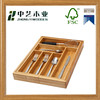 Trade assurance handmade bamboo wooden dining-table kitchen utensil tray cutlery organizer