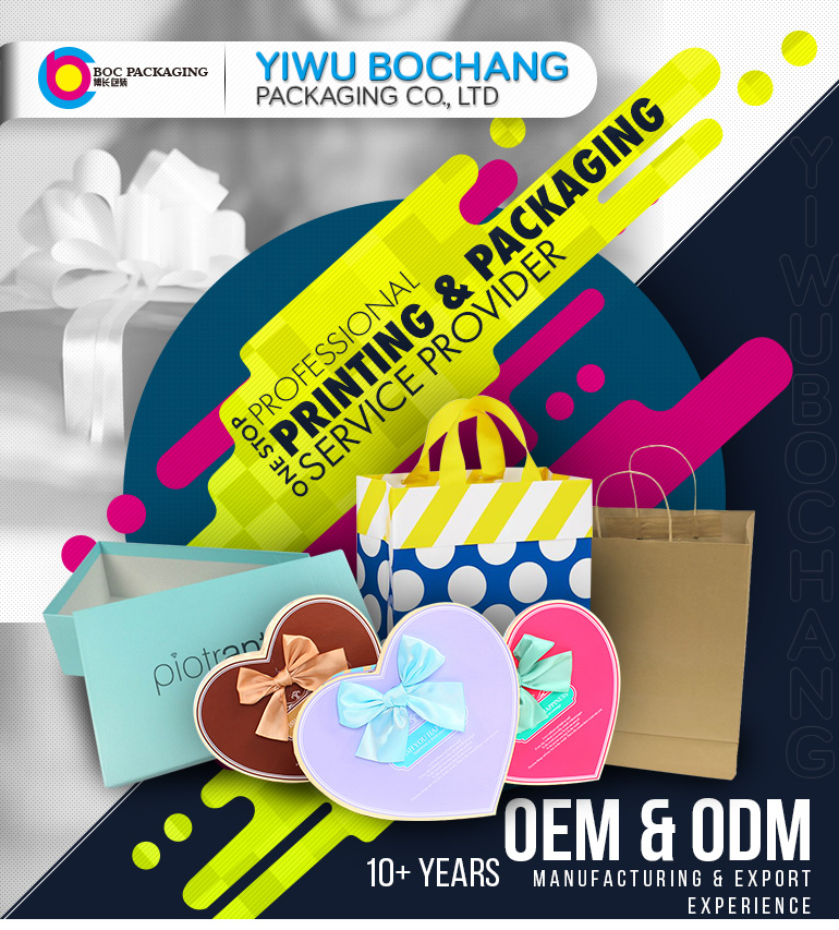 Custom Foldable Kraft Paper One Pieces Gift Box with CMYK Color Printing