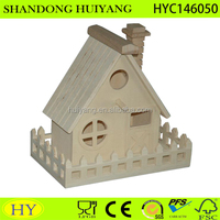 2016 new design exquisite wood crafts bird feeder/bird house