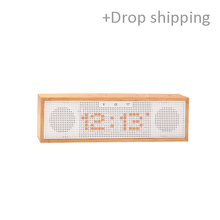 Bamboo Bluetooth Speaker with LED time,Alarm Clock+FM radio with drop shipping service- Skype:colsales09