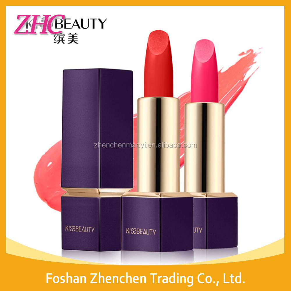 Kiss Beauty Makeup Lipstick 6 Velvet Colors Moisturizer Lipsticks Super Long Lasting Waterproof Cosmetics