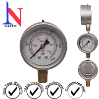 Vibration-proof pressure gauge of 100bar, waterproof gauge