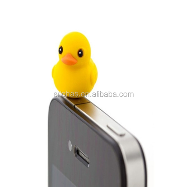 Smart Phone accessory cheap rubber animal anti dust plug