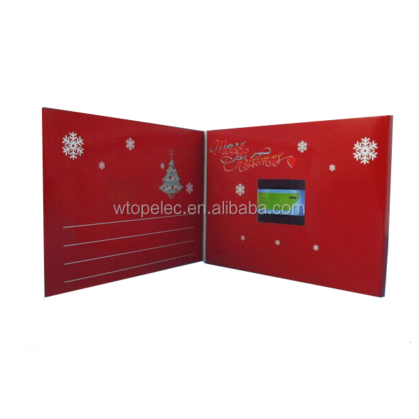 "2016 popular 4.3"" christmas video card, video holiday brochure card"