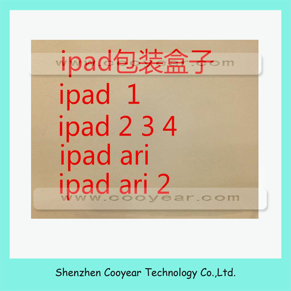 Wholesale price for <strong>ipad</strong> 2/3/4 paper packing box,empty box for <strong>ipad</strong> 2/3/4 box with manual