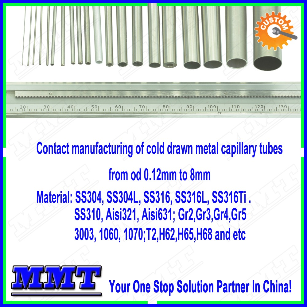 contract manufacturing of cold drawn precision micro capillary tubes