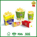 take out paper custom printed popcorn bucket