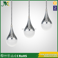 Good stability led battery operated modern crystal color changing pendant light