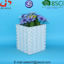 New design whitewash and Glazed Ceramic Planters Square flower pots