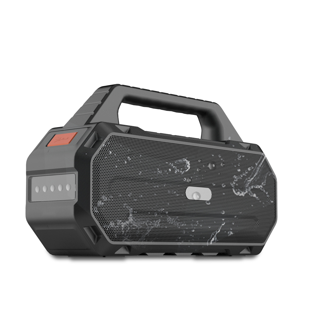 2019 Newest Stereo 30W Bass Rugged wireless portable <strong>speaker</strong> with TF card and flashlight for outdoor