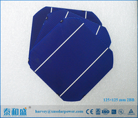 High quality monocrystalline silicon solar cells 125x125 for Home Solar System