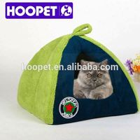Hoopet luxury dog bed mixed pet house /small dog, green