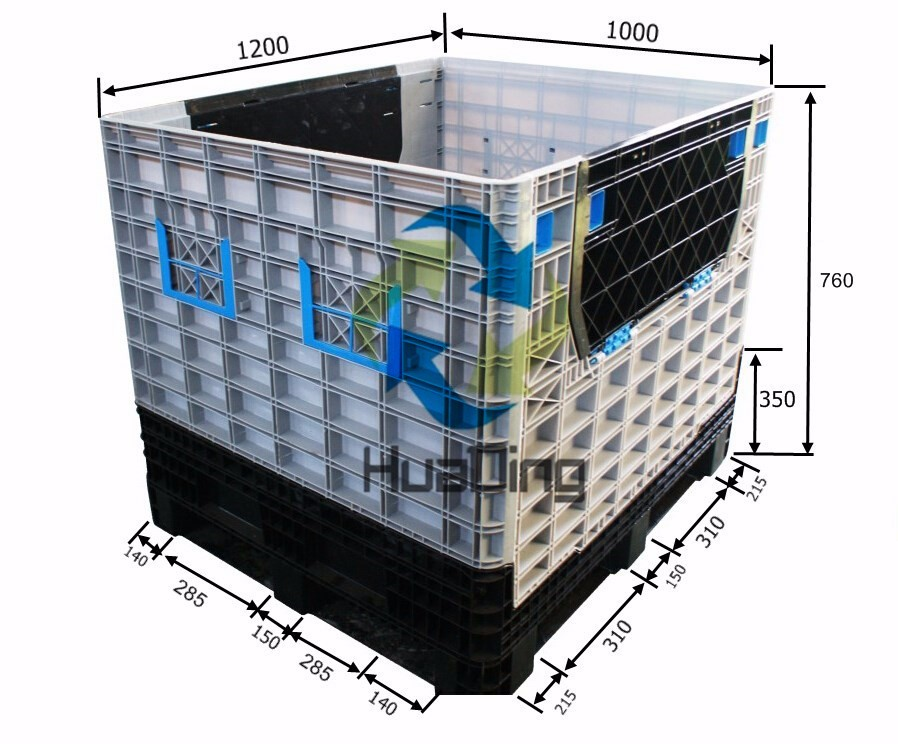 trade assurance stackable movable big collapsible container