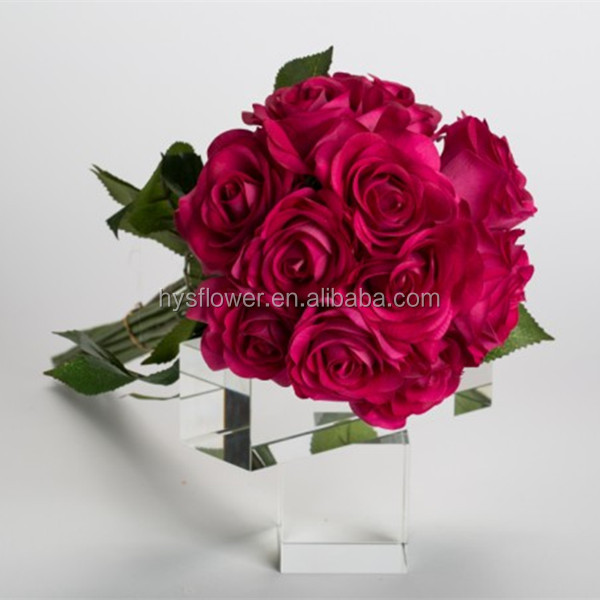Real touch red roselatex artificial flowerslatest wedding real touch red rose latex artificial flowerslatest wedding decoration car flower mightylinksfo