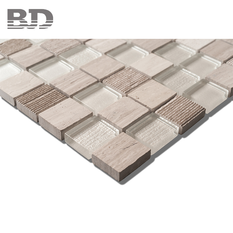 New Style Fashion Top Quality Durable Glass mosaics Marble Block
