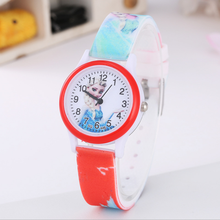 Children Fashion Cartoon Casual Wrist Watch frozen girl watch cute students quartz color Silicone Watch