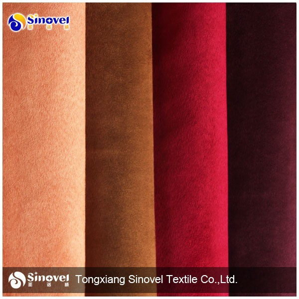 100 Polyester Suede Fabric for garment and boots/UGG boots fabric