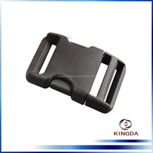 Curved plastic side release buckle