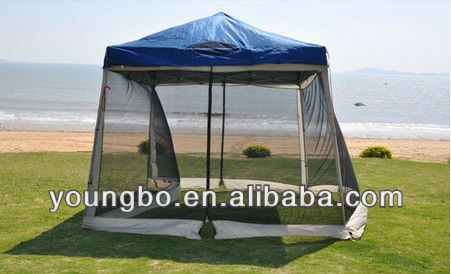 8x8 / 10x10 Pop up Canopy Party Tent Gazebo Ez with Net - Blue