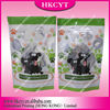 Custom printed dog food package bag/clear window stand up pouch