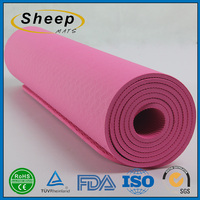 Colorful eco-friendly customized fitness yoga mat natural rubber