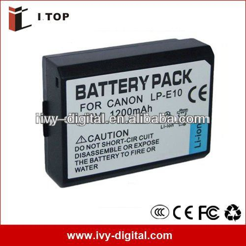 Rechargeable Camera Battery LP-E10 for Canon 1100D X50, 860mAh