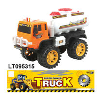 Cheap plastic tank truck toys, free wheel engineer truck toys, mini construction truck toys