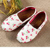 Shoes Kids Casual Footwear Breathable Canvas Shoes Friut Pattern for Child